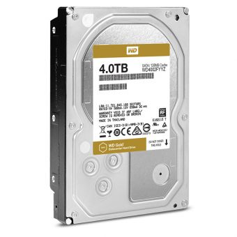 Жесткий диск Western Digital HDD SATA-III 4000Gb GOLD WD4002FYYZ, 7200rpm, 128MB buffer (Аналог WD4000FYYZ), 3.5