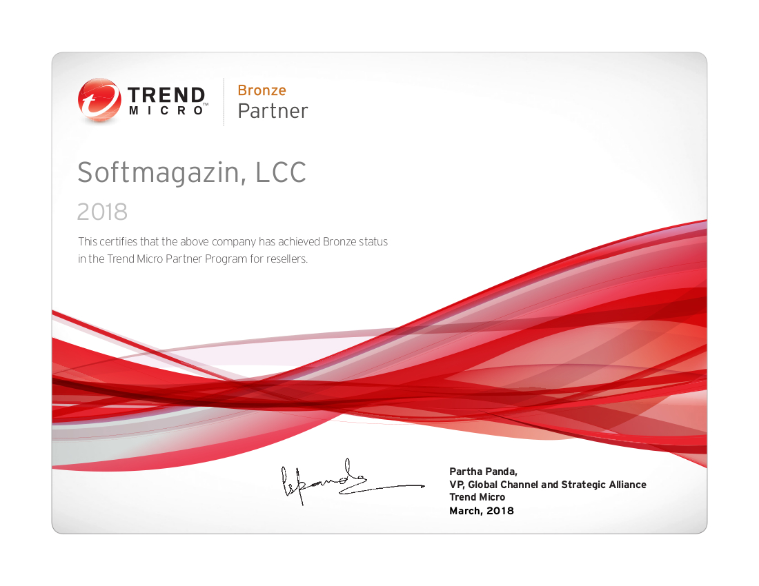 Trend Micro Professional Services partner 2018