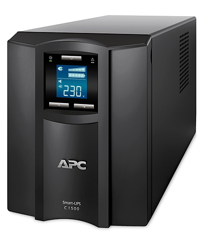 ИБП APC Smart-UPS C 1000VA/600W, 230V, Line-Interactive, Out: 220-240V 8xC13, LCD, Gray, 1 year warranty, No CD/cables