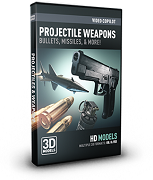 Video Copilot 3D Model Pack- Projectile Weapons VC3DMPKPW