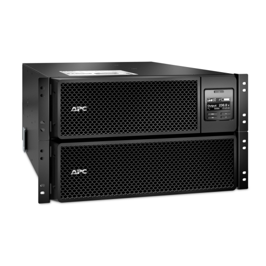 ИБП APC Smart-UPS SRT RM, 10000VA/10000W, On-Line, Extended-run, Rack 6U (Tower convertible), Pre-Inst. Web/SNMP, with PC Business, Black