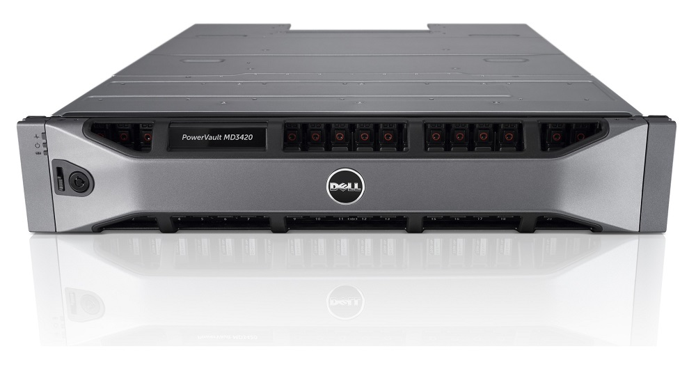 Система хранения данных Dell PowerVault MD3420 SAS 24xSFF Dual Controller 4GB Cache/ no HDD UpTo24SFF/ 2x600W RPS/ Bezel/ Static ReadyRails/ need upgr MD3420-ACCN-01